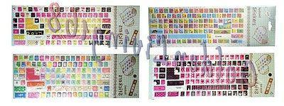 desktop laptop keyboard stickers large letters cute