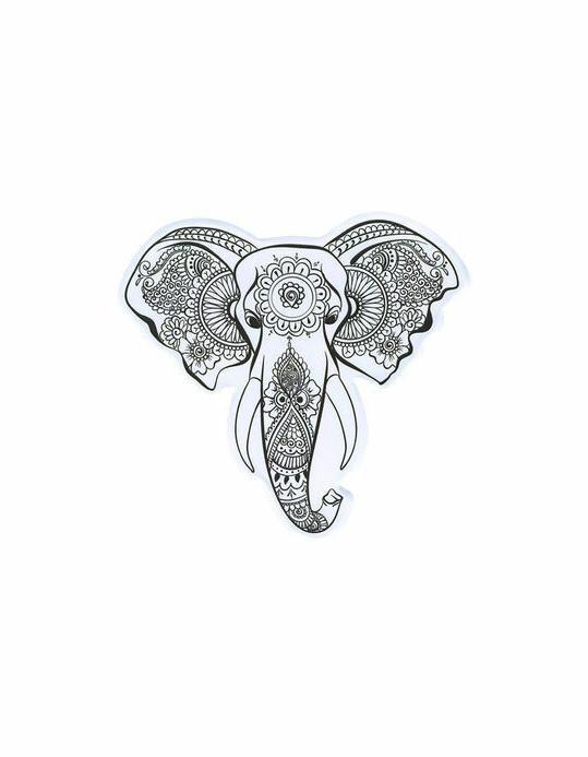 elephant head henna art sketch vinyl decal