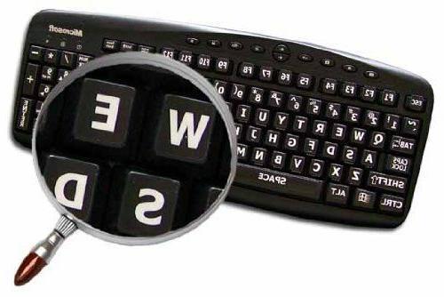 English US Large Keyboard Stickers