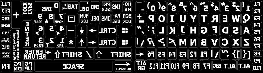 english us large print keyboard stickers non
