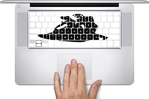 fairy tale silhouette macbook keyboard