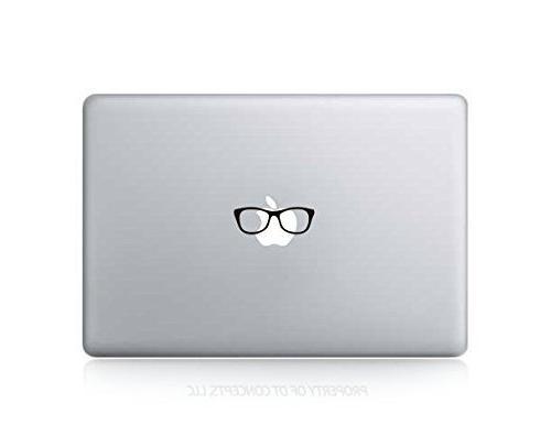 funny nerd glasses sticker decal