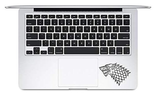 Game Of Thrones Stark Direwolf Vinyl Apple Mac Air Sticker