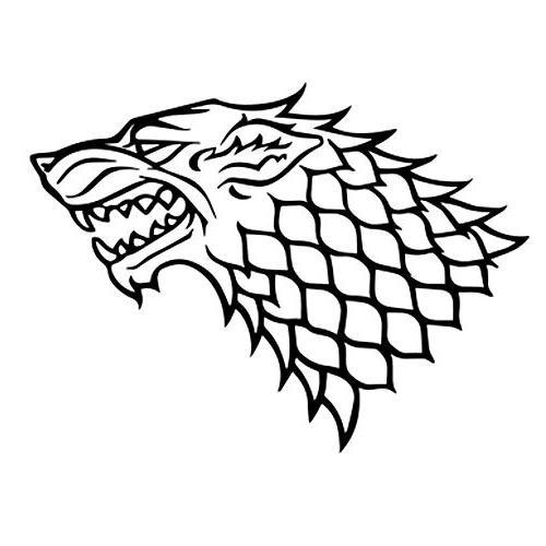 game thrones house stark direwolf
