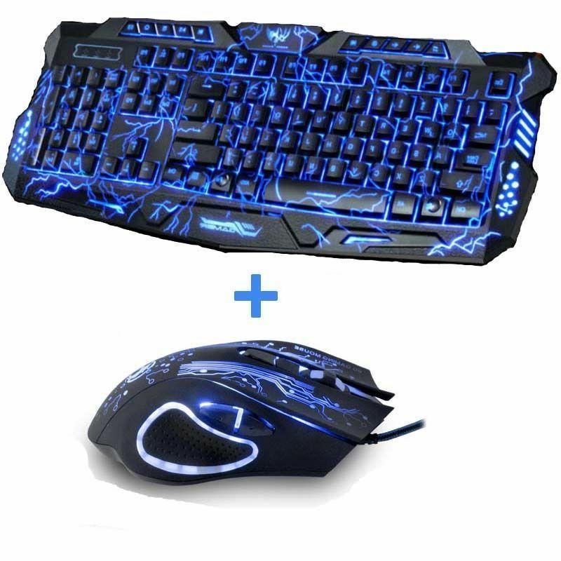 gaming keyboard tri color usb powered full