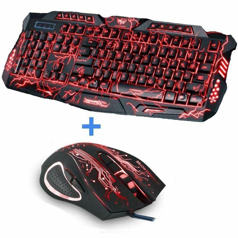 Gaming Keyboard Tri-color Usb Powered Full Desktop Laptop