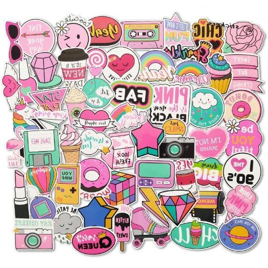 60 cute sticker lot kawaii pink hearts