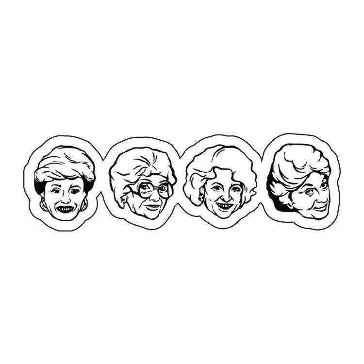 golden girls heads blanch dorothy sticker decal