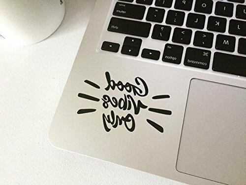 good vibes only laptop decal macbook sticker