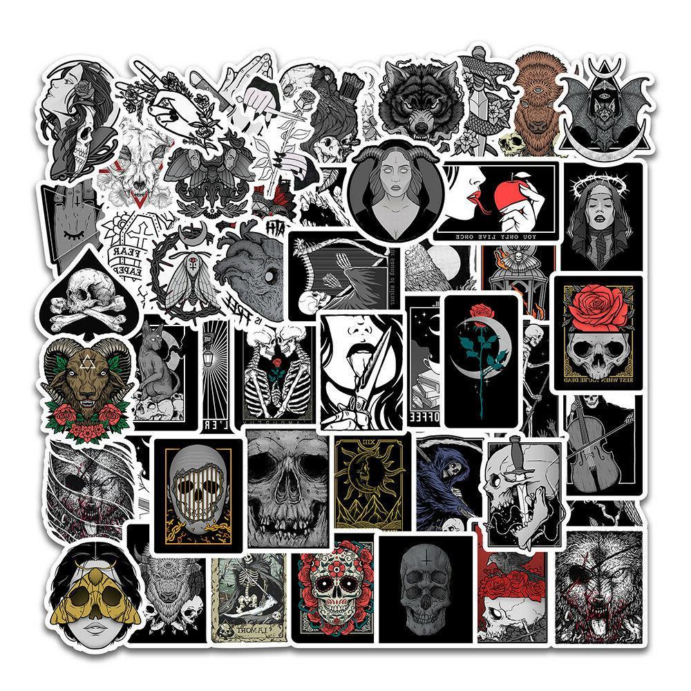 gothic sticker pack grunge skull horror creepy