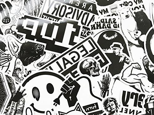DreamerGO 100 Pieces White Smooth Car Motorcycle Skateboard Luggage Sticker