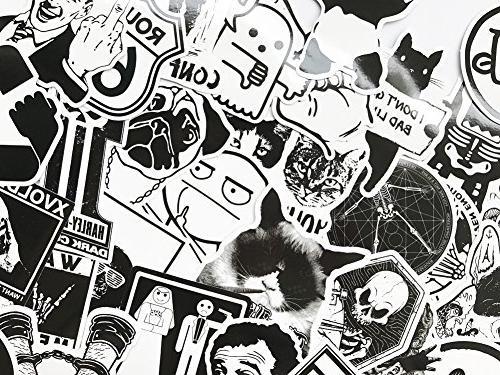DreamerGO Pieces Black and Smooth Skateboard Laptop Sticker