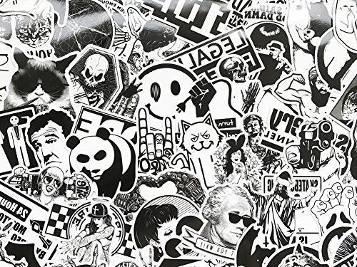 DreamerGO 100 Pieces Black Smooth Car Skateboard Laptop Sticker