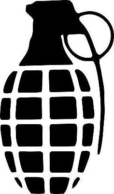 Grenade gloves vinyl decal sticker wall car laptop many colo