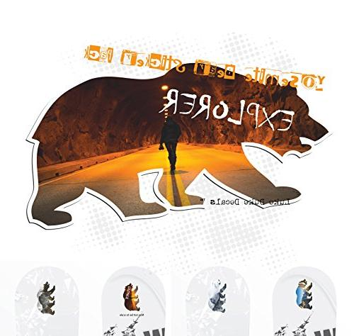 Half Valley Cali Bear Sticker Pack snowboards, laptops, or walls