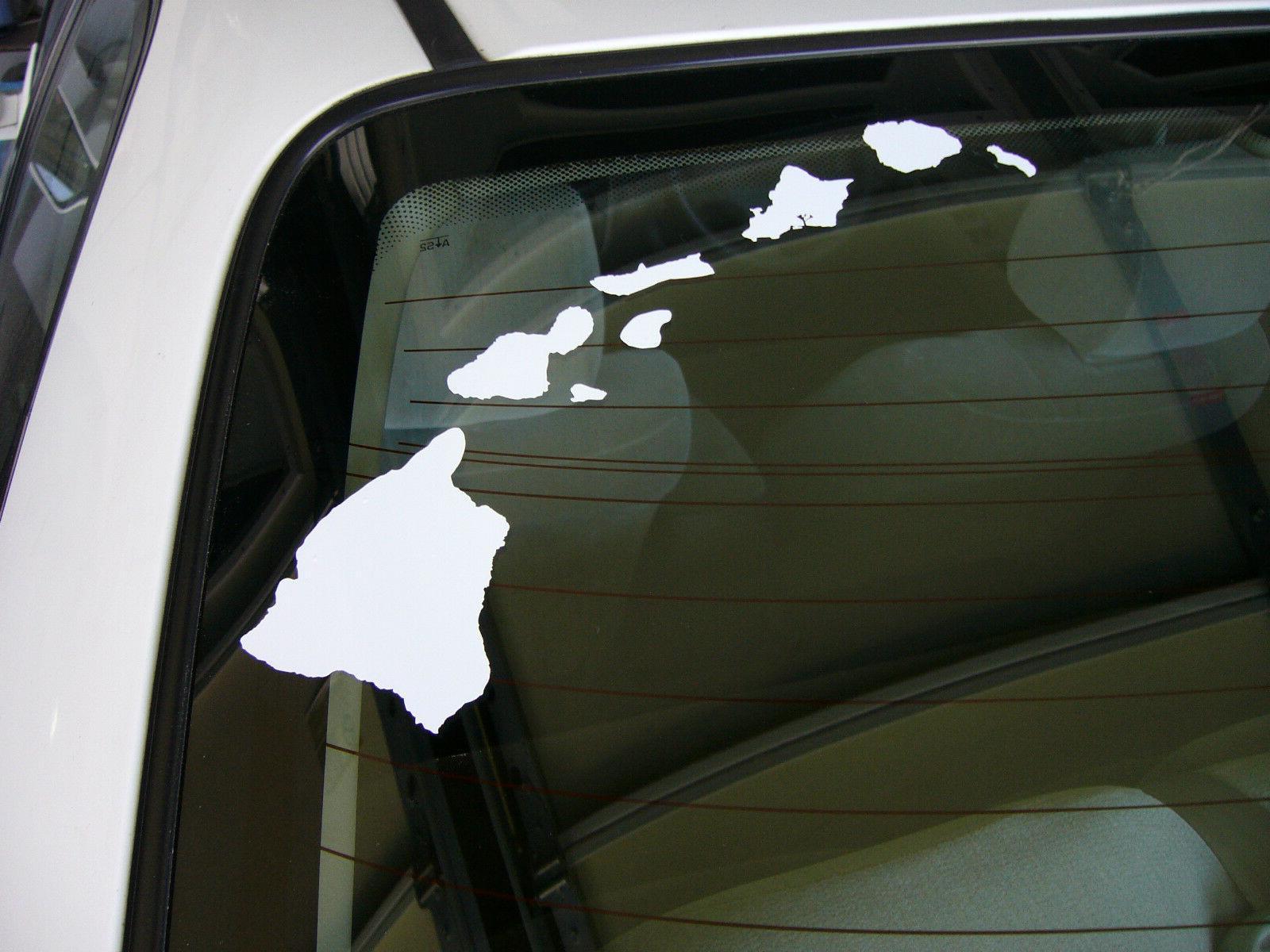 Hawaii Hawaiian Islands Map vinyl window laptop decal car bu