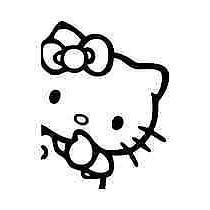 Hello Kitty Peek Decal Cartoon Vinly Sticker Laptop Car Wind