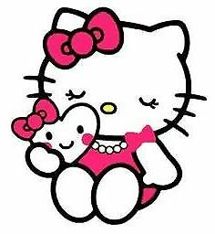 Hello Kitty with Kawaii Heart  vinyl sticker  for laptop lug