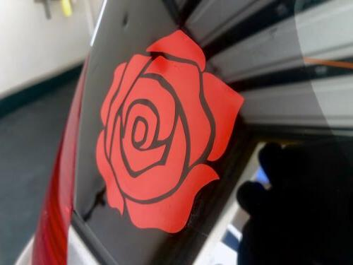 High Red Rose Vinyl Decal For Laptop