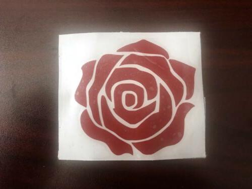 High Red Rose Flower Decal Laptop Phone