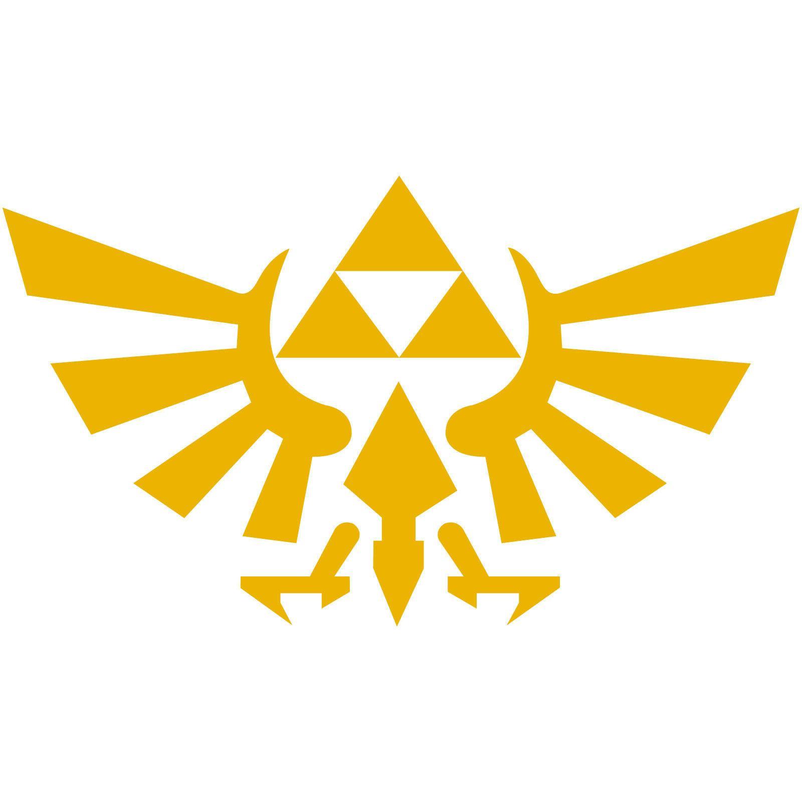 hyrule crest triforce logo 2 decal sticker