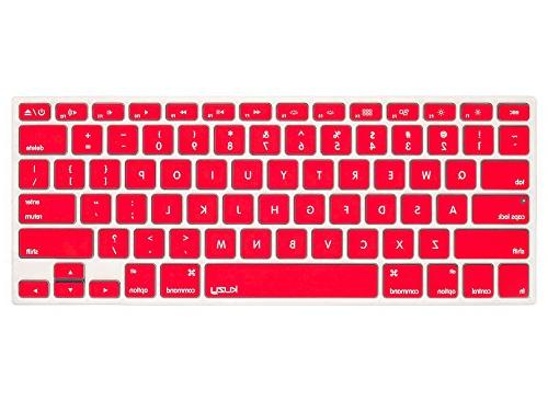 """Kuzy RED Cover Silicone Skin for Pro 15"""" 17"""" iMac and MacBook 13"""" Red"""