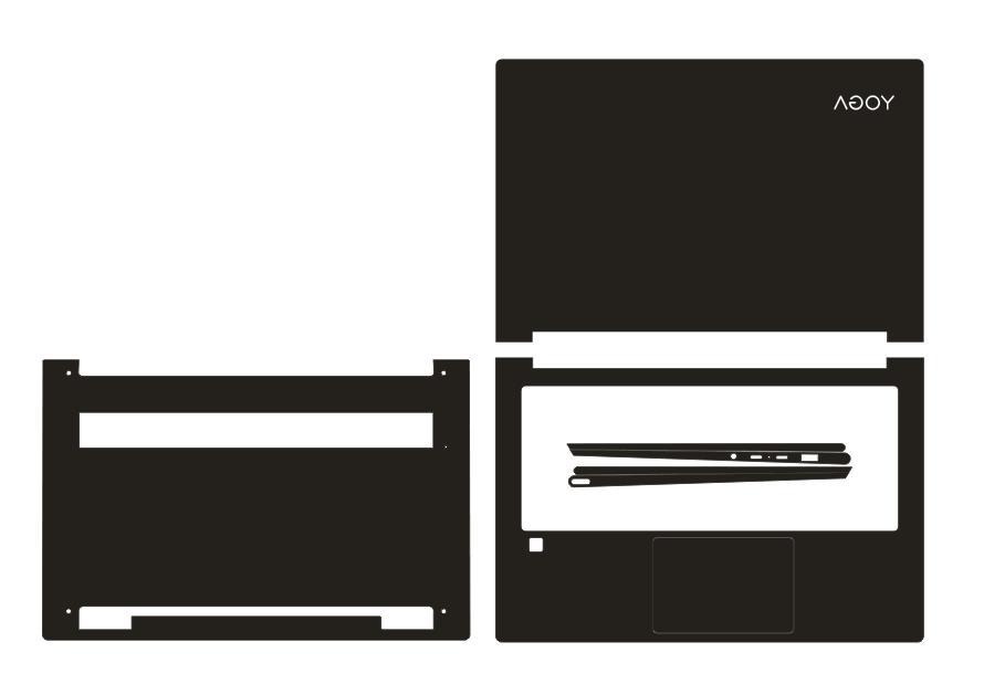 laptop carbon fiber vinyl skin sticker cover