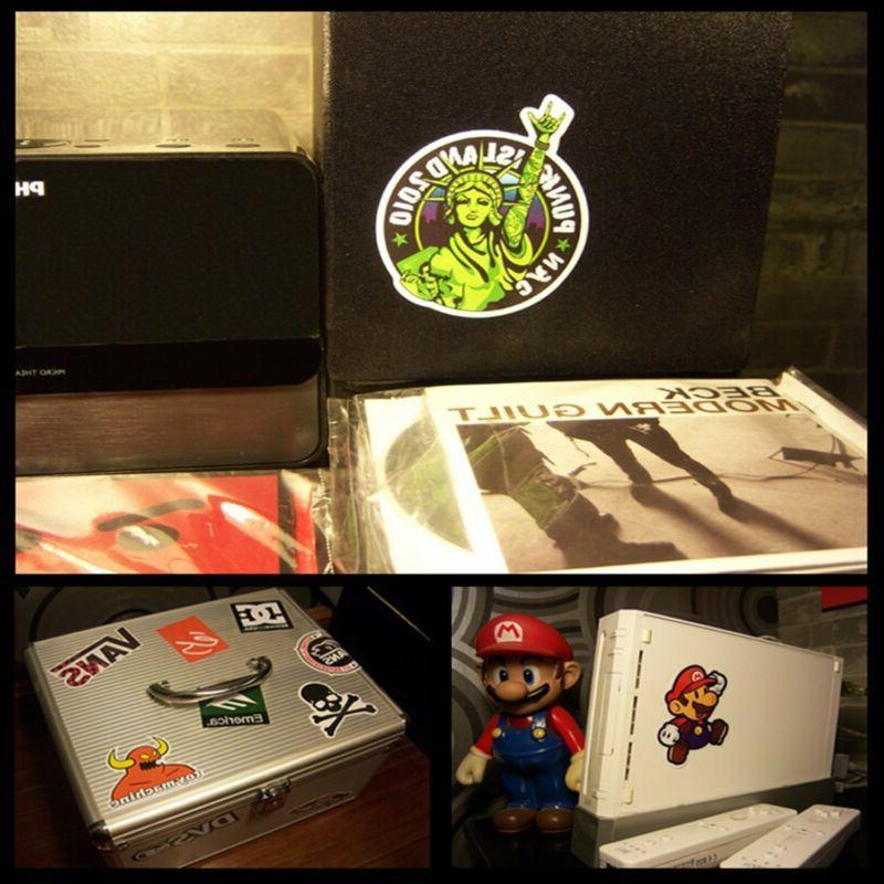 Laptop Graffiti Vinyl Sticker Mix