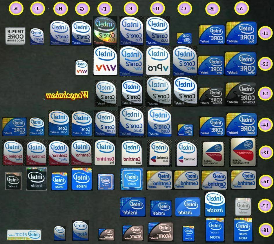 laptop pc sticker intel core 2 duo