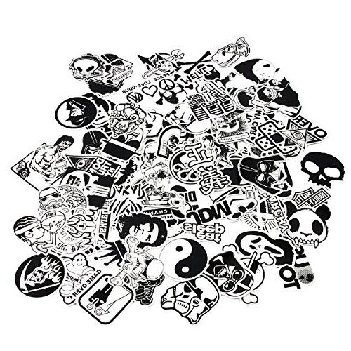 FNGEEN and 100pcs Vinyl Car Motorcycle Bicycle Patches Skateboard for