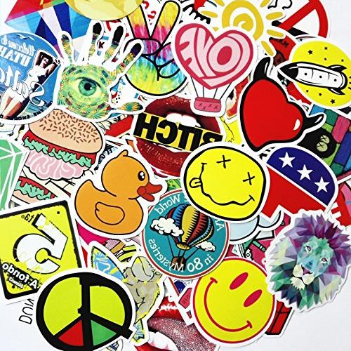 Laptop Stickers 200 TCT TECH Skateboard Bumper