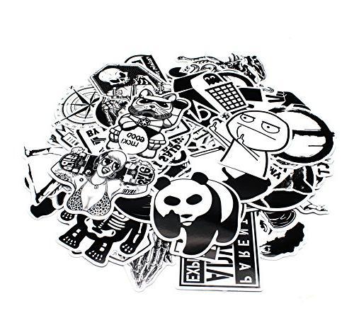 Nuoxinus Stickers Black Bumper Helmet Phone Decals