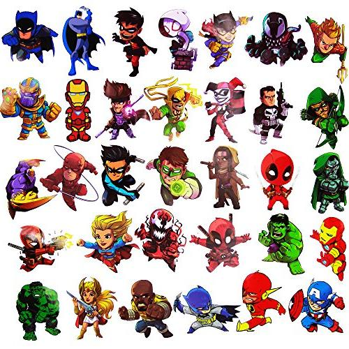 Laptop Stickers,Superheros Computer for Bottles,Vinyl Stickers for Luggage Decal Graffiti in Bulk