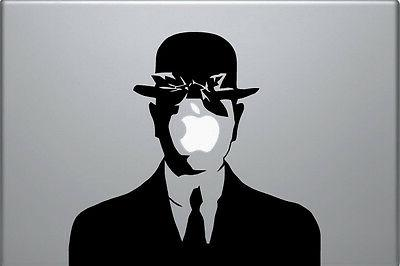 laptop vinyl sticker rene magritte son of