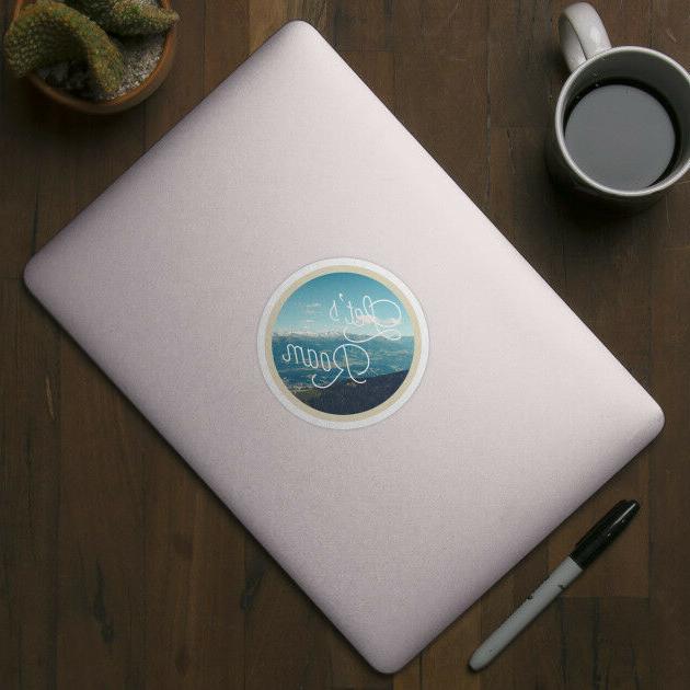 Let's Adventure Quote Vinyl Laptop Motivation Sticker