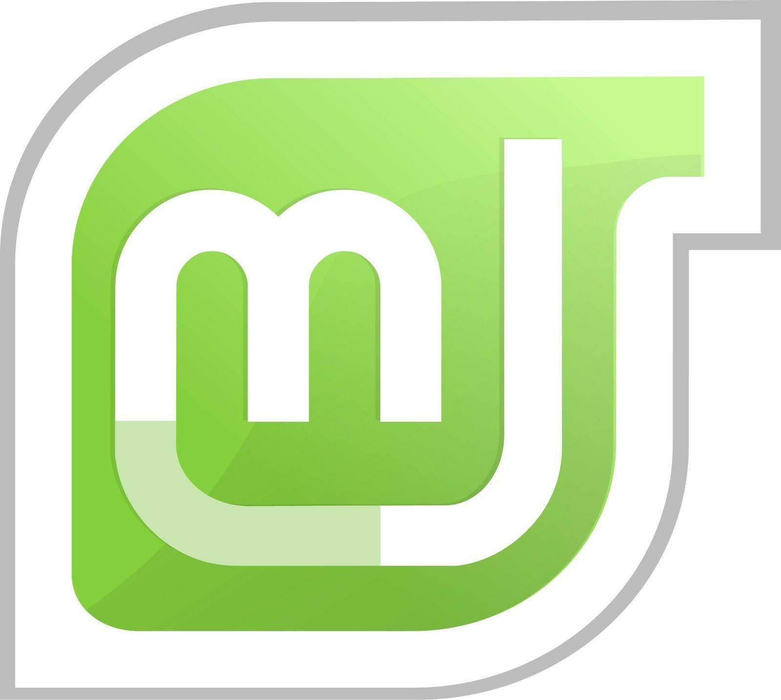 linux mint logo vinyl sticker decal laptop