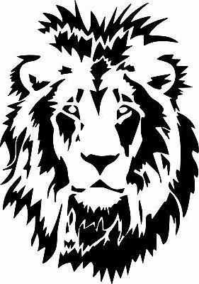 lion head animal art graphic vinyl sticker