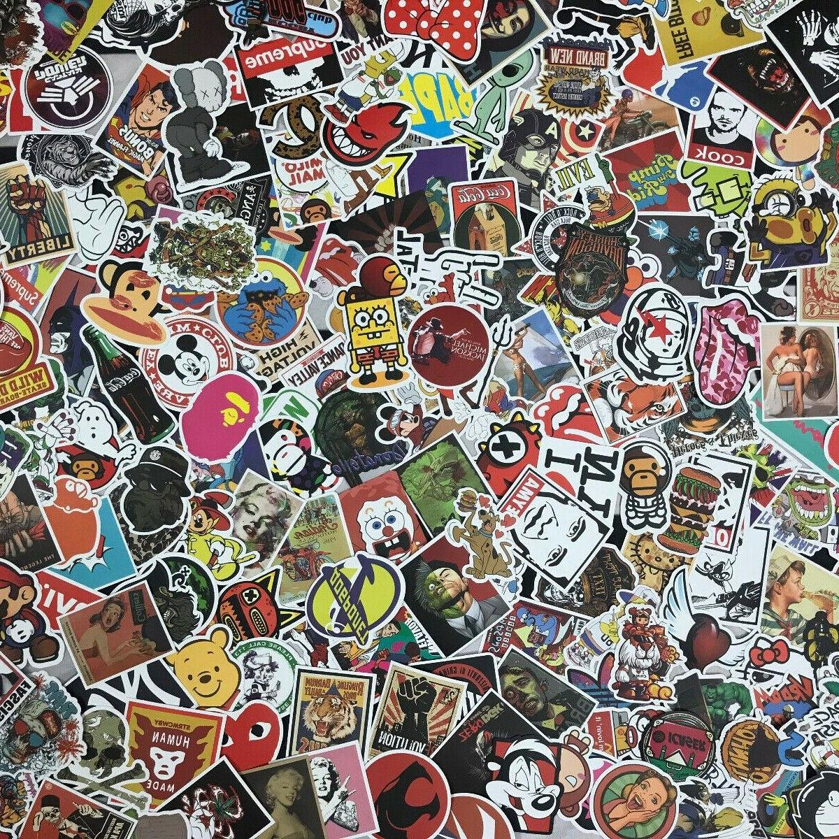 lot 100 random vinyl laptop skateboard stickers