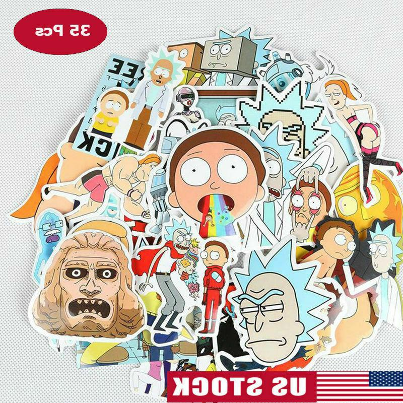 lot 35 rick and morty sticker bomb