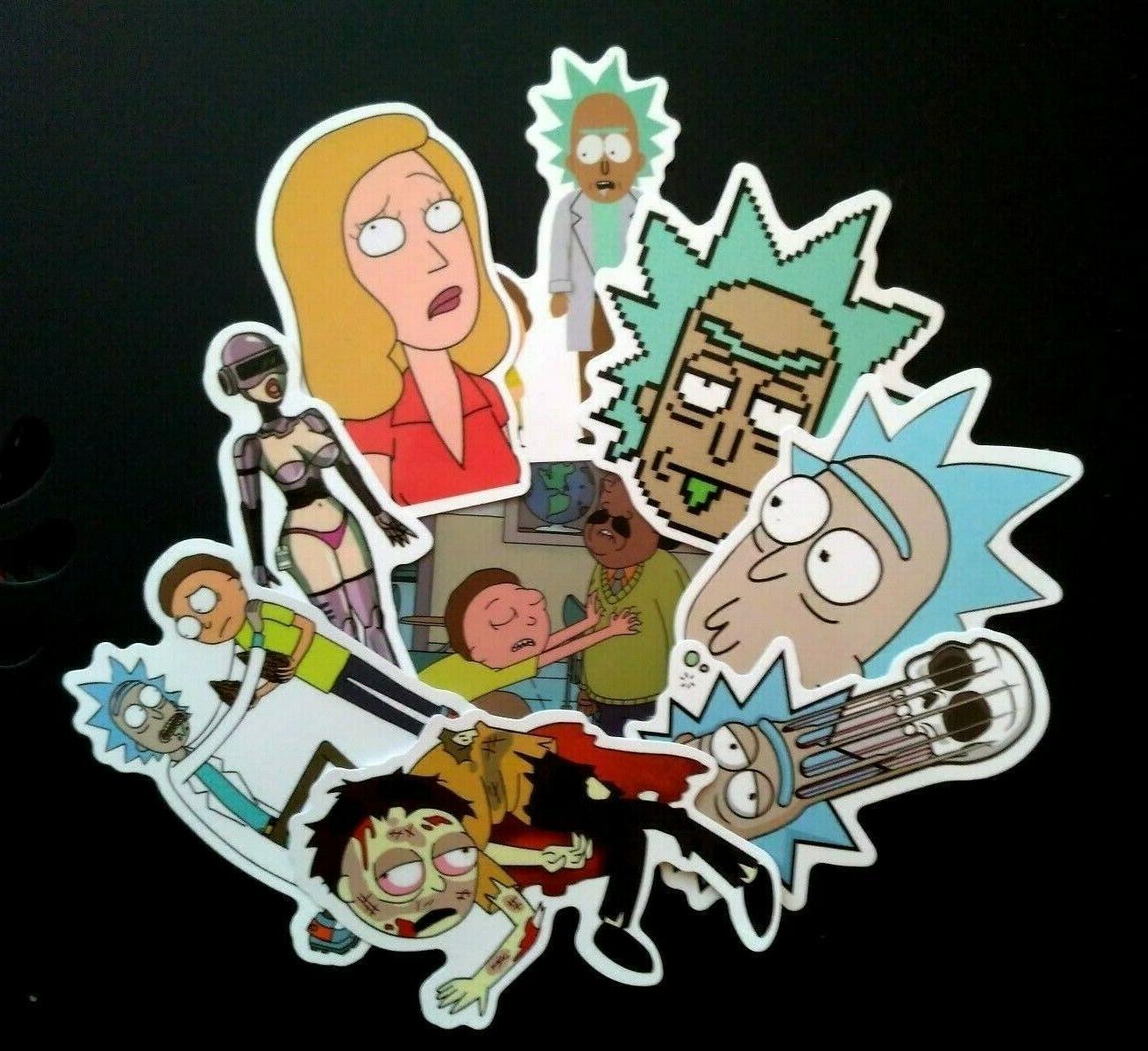Lot Rick Morty Skateboard Vinyl Decals