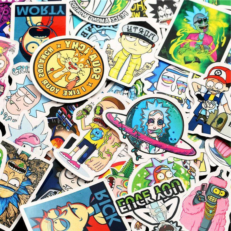 50PCS Rick Stickers Luggage Decor