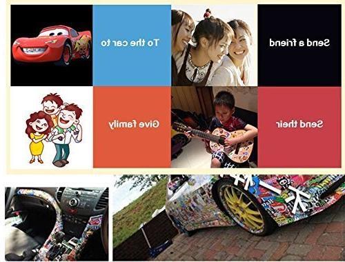 Sticker Pack 100Pcs,KONLOY Vinyl Bottles,Laptop,Kids,Cars,Motorcycle,Bicycle,Skateboard Luggage,Bumper Hippie Decals