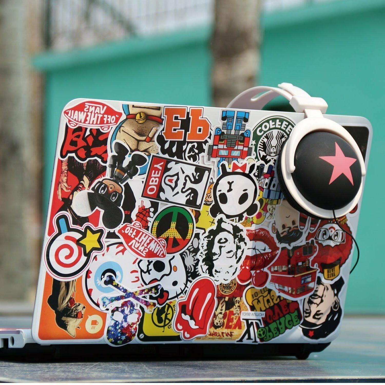 100pcs Music Vinyl Skateboard Guitar Travel Case Laptop