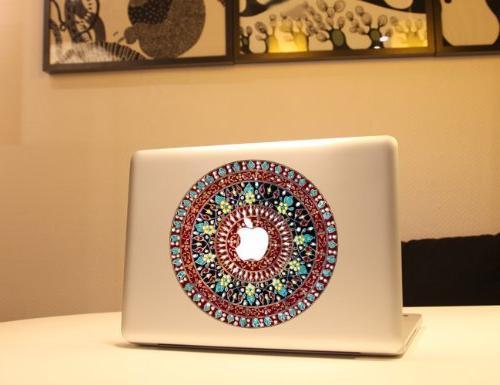 lovedecalhome macbook flower sticker