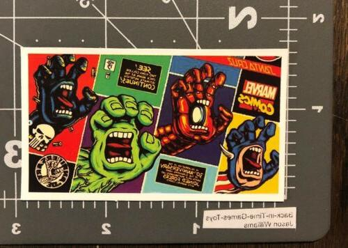 marvel comics santa cruz screaming hand logo
