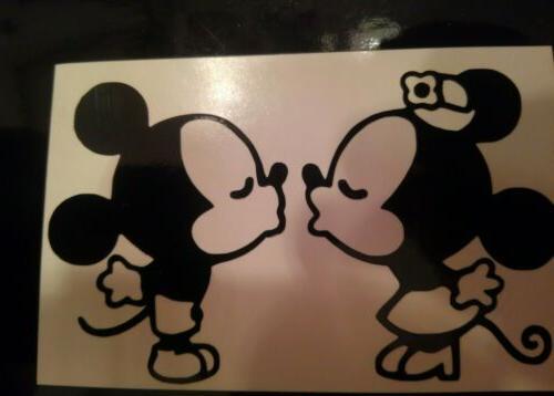 mickey and minnie kissing disney iphone vinyl