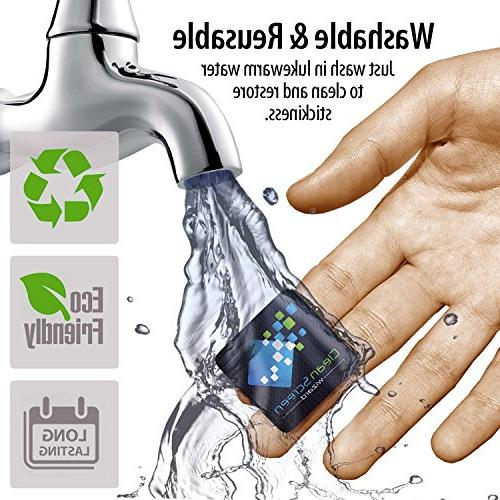 Clean Wizard Screen Screen Cleaning Kit, Bundle Cleaning Stickers Black- Screens