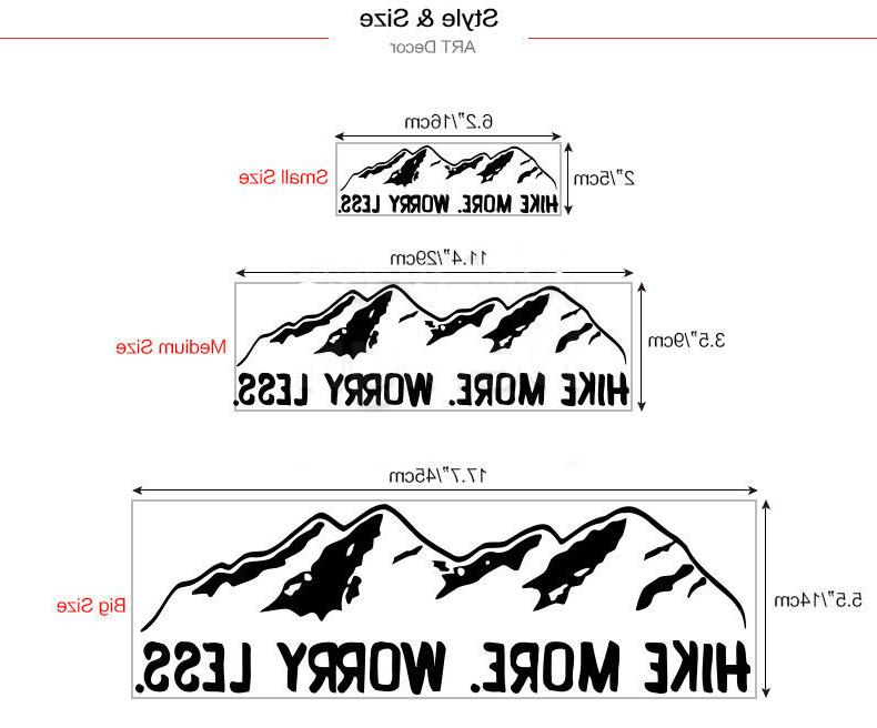 Mountain Rock Car Decals