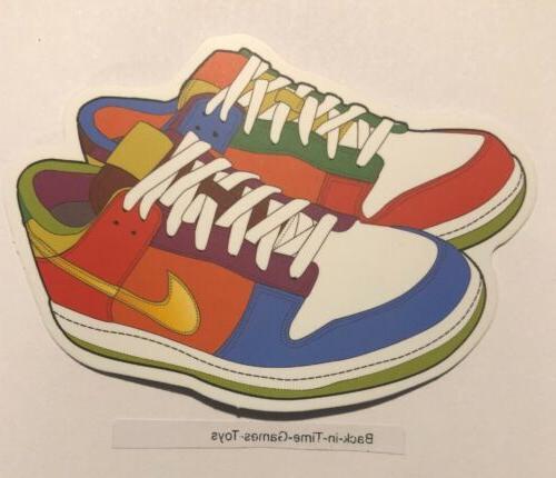 Multi Colored Nike Humor Sticker