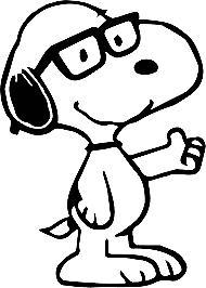 Nerdy Snoopy #1~ Decal Cartoon Vinyl Sticker Laptop Car Wind
